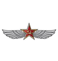 USSR star and wings vector image vector image