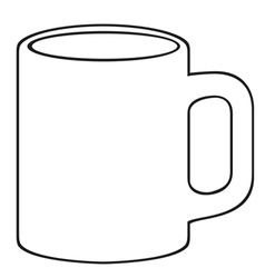 coffee mug-white cup vector image vector image