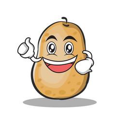 enthusiastic potato character cartoon style vector image