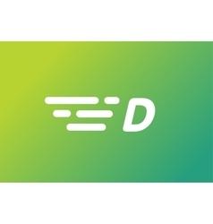 Fast line letter D logo monogram vector image