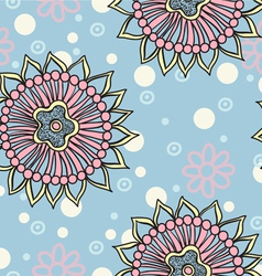 Floral seamless abstract hand drawn pattern vector image vector image