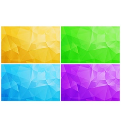 Geometric patterns set Colorful abstract mosaic vector image