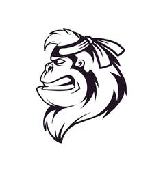 gorilla ninja vector image vector image