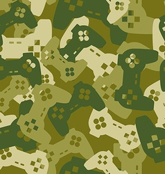 Military texture from gaming joysticks Army vector image vector image