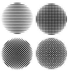 set vertical horizontal diagonal stripes circle vector image vector image