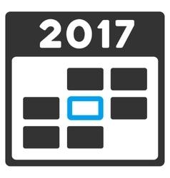 2017 Calendar Day Flat Icon vector image