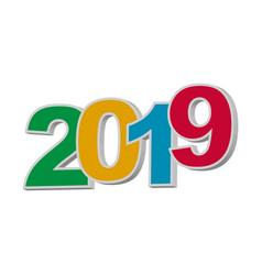2019 happy new year vector image