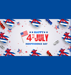 4th july background design with realistic vector