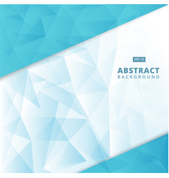 Abstract blue geometric triangle lowpoly vector
