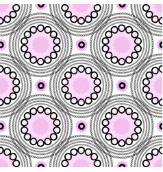 Abstract geometric background circles pink vector
