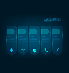 abstract health care science medical icon concept vector image