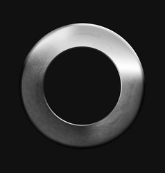 abstract round metallic texture ring on black vector image