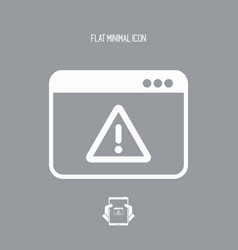 alert page - flat minimal icon vector image