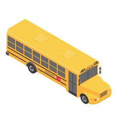 american school bus icon isometric style vector image