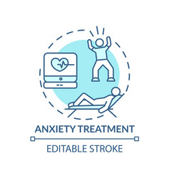 Anxiety treatment concept icon vector