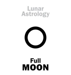 astrology full moon vector image