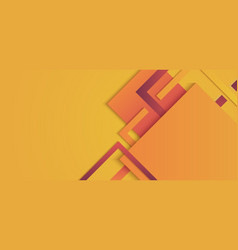 Banner template squares geometric yellow and red vector