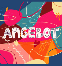 big sale in german - angebot lettering poster vector image
