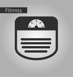 Black and white style icon sports scales vector