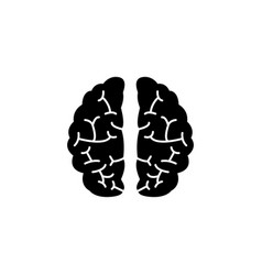 brain solid icon medical and school element vector image