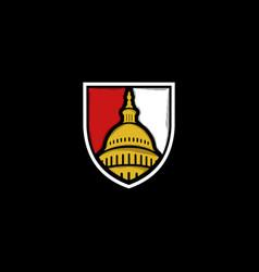 building washington dc shield business logo vector image