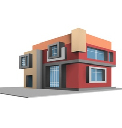 Built scene completely new house vector