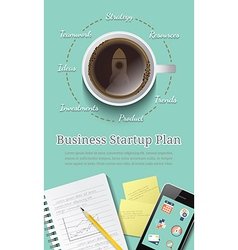 Business startup plan concept vector image