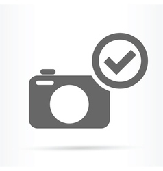 Camera confirm symbol icon vector