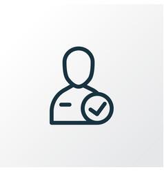 candidate icon line symbol premium quality vector image