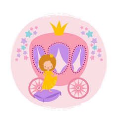 cartoon character cute little princess and coach vector image