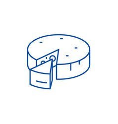 cheese line icon concept cheese flat vector image