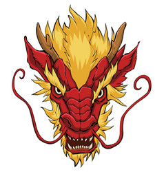 Chinese dragon head red vector