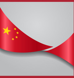 Chinese wavy flag vector