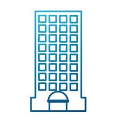 City building edifice vector