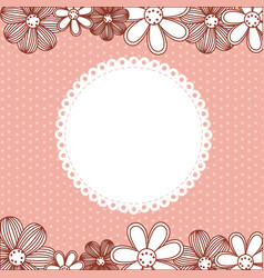 color pattern dotted with flowers background vector image