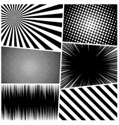 Comic monochrome concept vector