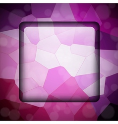 Crystallize background vector image vector image