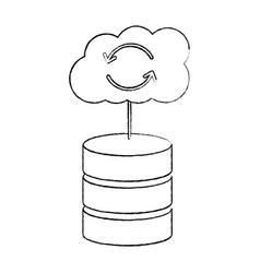 database data center icon image vector image