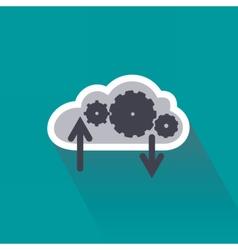 Digital data computing on cloud server vector