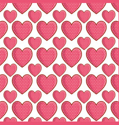 dotted hearts love pattern vector image