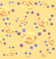 floral seamless pattern blooming yellow flowers vector image