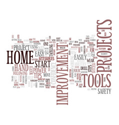 four easy steps to home improvement success text vector image