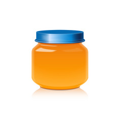 Glass jar mock up for honey jam jelly or baby vector