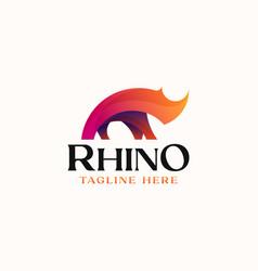 Gradient rhino logo template logo isolated vector
