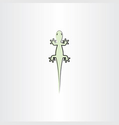 green lizard icon vector image