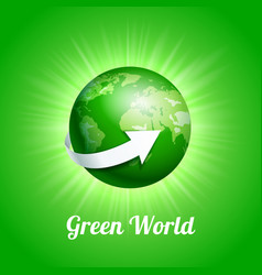 green world concept vector image