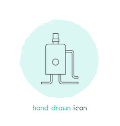 Heating system icon line element vector
