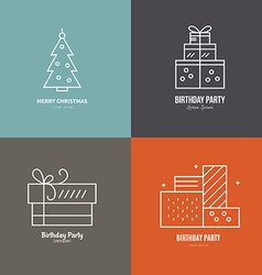 Holiday Logos vector image
