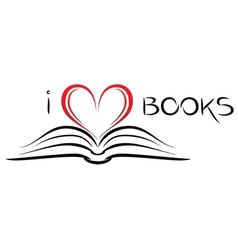 I love books vector