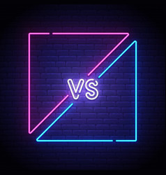 Isolated neon sign versus screen vector